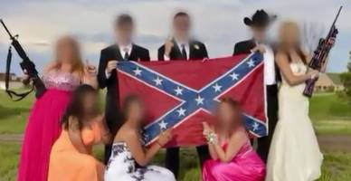 Students Pose With Guns, Confederate Flag In Prom Picture (Video)